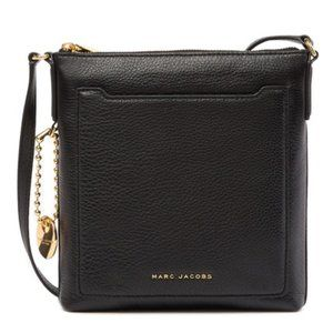 NWOT Marc Jacobs Black Leather Tourist Crossbody